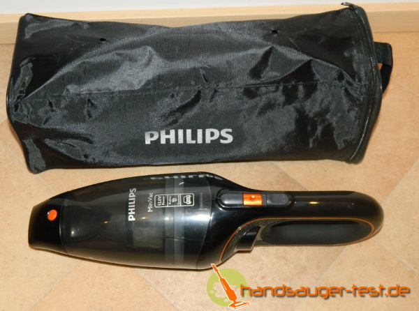 Philips Autosauger mit der dazugehörigen Tasche