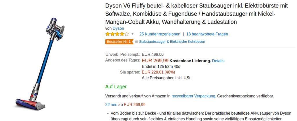 Im Angebot: Dyson V6 Fluffy